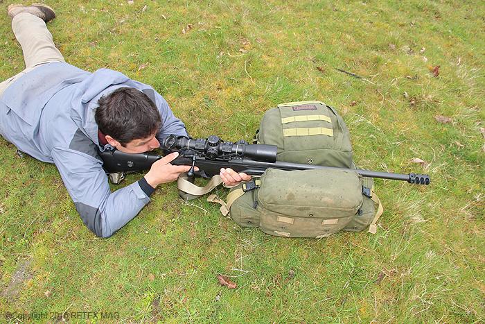 Tikka T 3, position adaptée, tir longue distance, sangle Impacts, kahlès, rocher, prise en main , fondamentaux en tir, K 312 II, utilisation de la sangle de carabine, technique de tir à la sangle